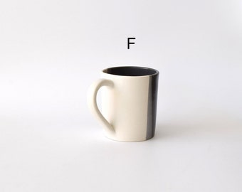 Overstock Sale! Large Black and White Ceramic Mugs 12-14 ounces