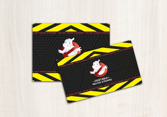 Ghostbuster Portable Proton Stream Labels - for Silly string bottles in 2 sizes - INSTANT DOWNLOAD digital file