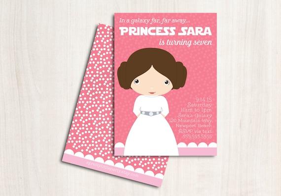 Leia Birthday Invitation