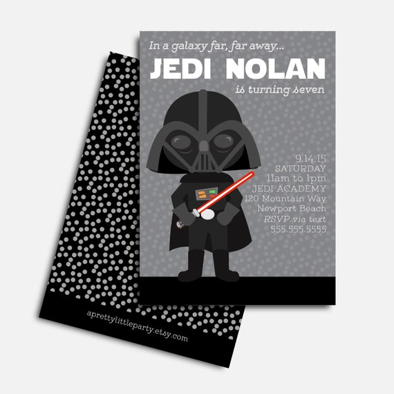 Star Wars {inspired} Invitation - Star Wars Party  - Printed Party Invitations
