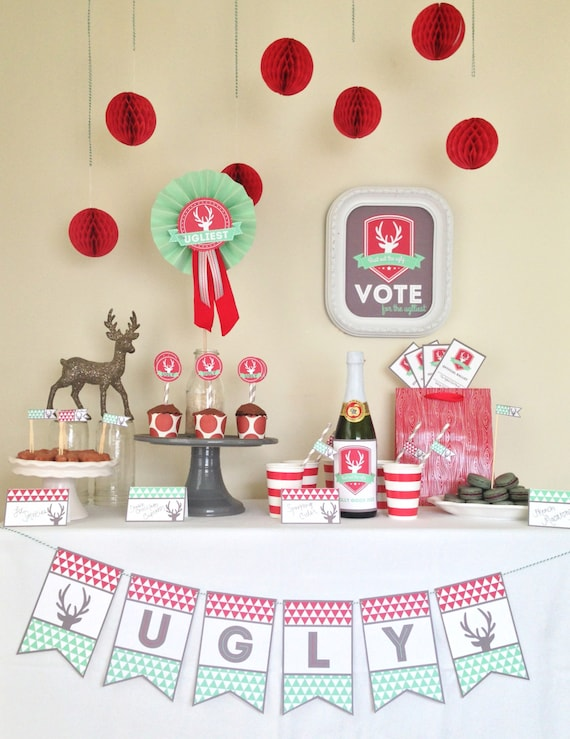 Bust out the Ugly ---> Ugly Sweater Party Package - Tacky Sweater Party - INSTANT DOWNLOAD