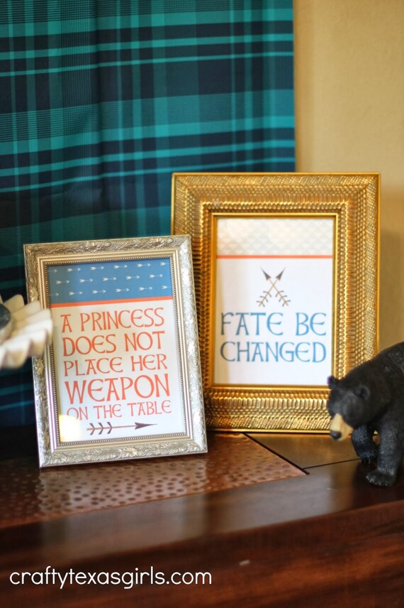 BRAVE {Inspired} Decorative Signs - BRAVE Party - Party Supplies