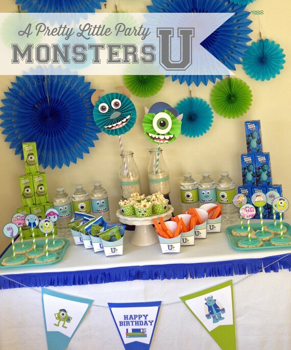 Monsters U {inspired} Party Pack  - Digital files - Party Supplies - INSTANT DOWNLOAD