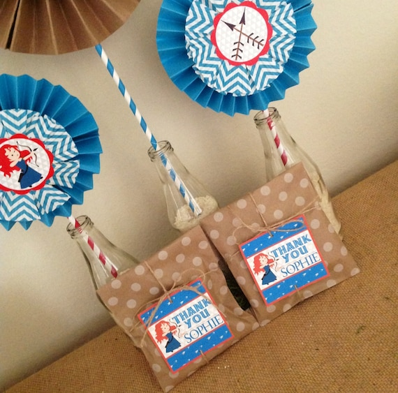 Custom BRAVE Favor Tags - BRAVE Party - Party Supplies