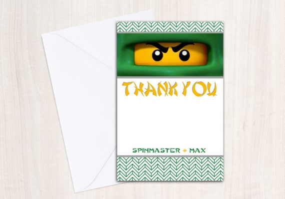 Custom Ninja Thank You Cards - Ninja Party - Party Supplies