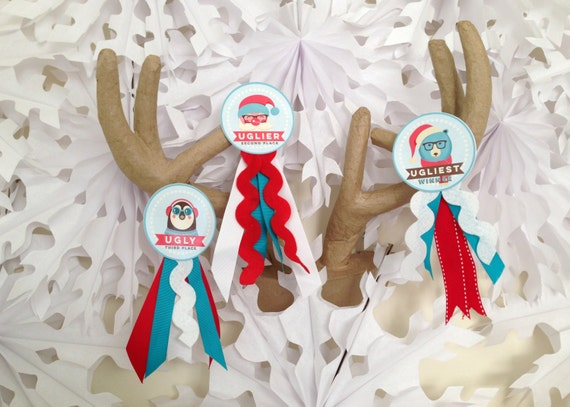 Hipster Ugly Sweater Party Awards - Tacky Sweater Awards - INSTANT DOWNLOAD