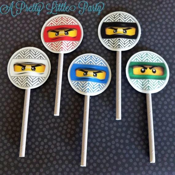 Ninja Cupcake Toppers  - Ninja - Party Supplies - INSTANT DOWNLOAD