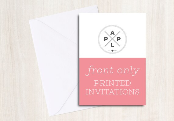 Add on --> Printed Invitations with envelopes to any invite