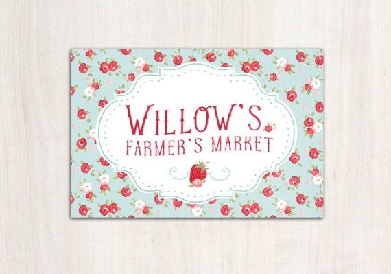 Farmer's Market Poster Backdrop - Picnic Party Supplies