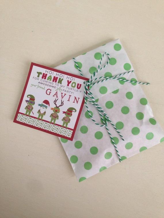 TMNT Christmas Favor Tags - Teenage Mutant NInja Turtle Party - Party Supplies