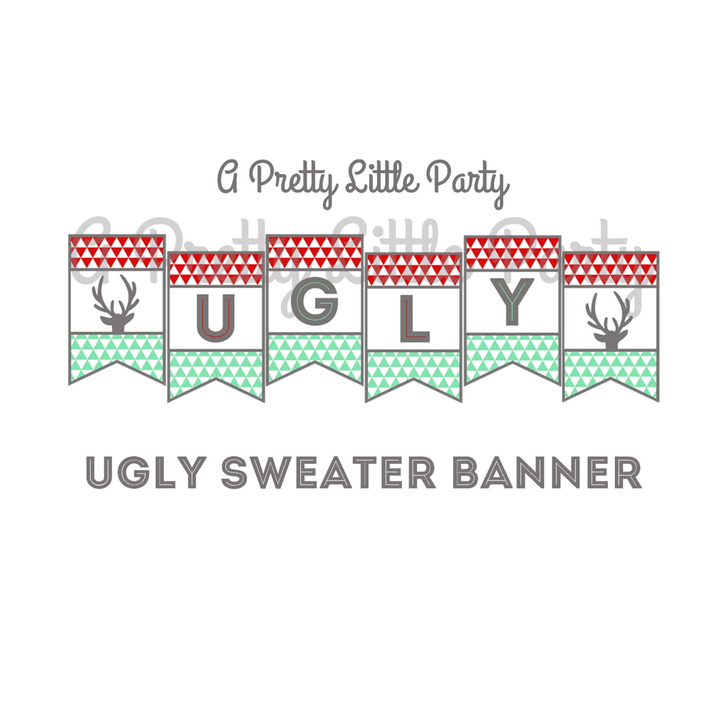 Ugly Sweater Banner Ugly Sweater Sign Ugly Sweater Party
