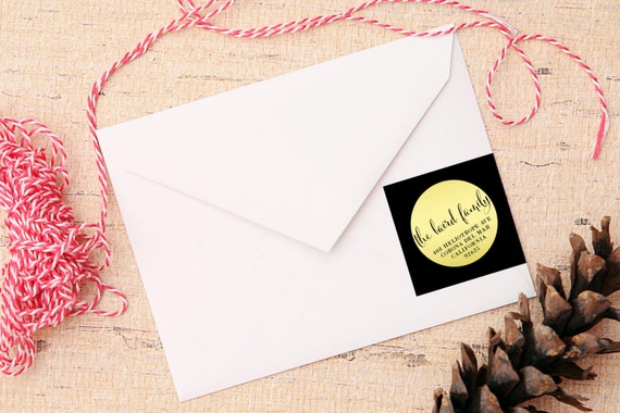 Chic Christmas Wrap Around Labels - Holiday Return Address Stickers