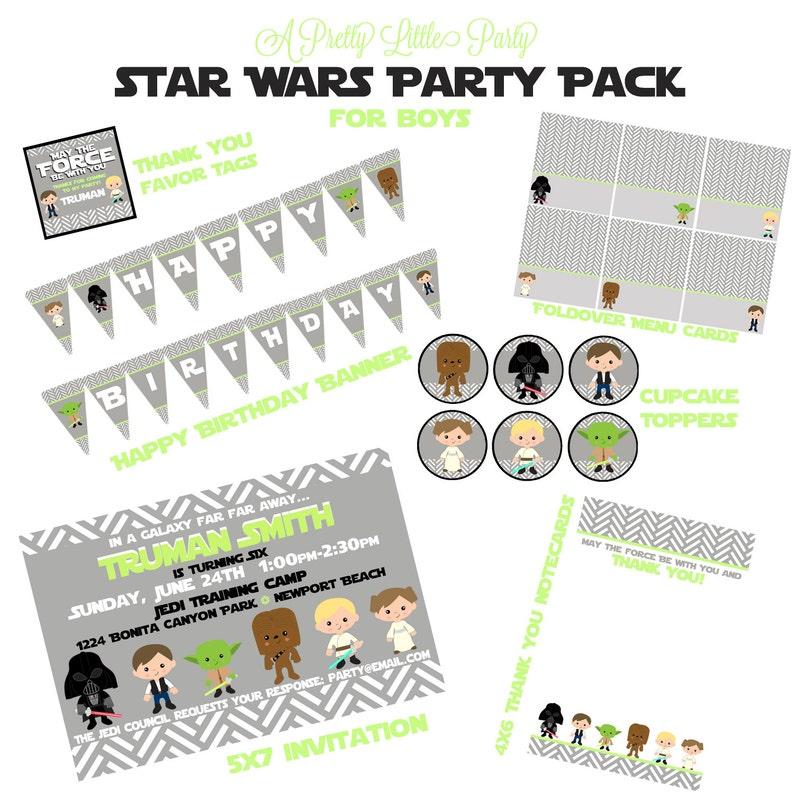 Star Wars Custom Birthday Party Pack