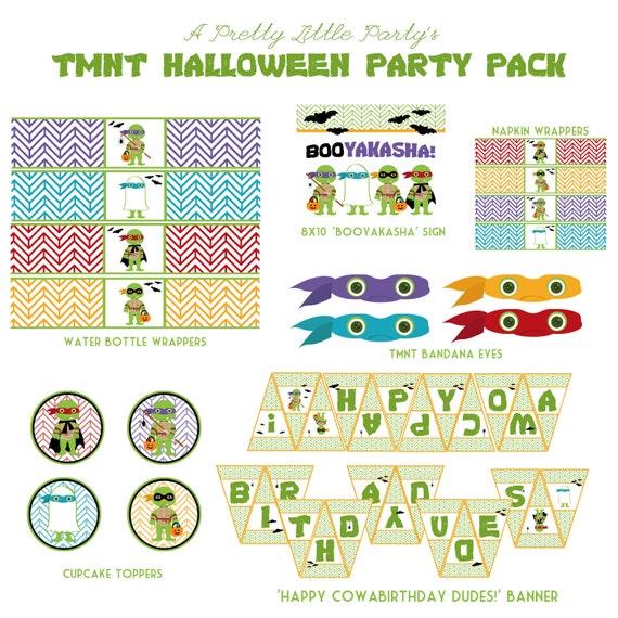 TMNT Halloween Party Pack - Teenage Mutant Ninja Turtles - Ninja - Party Supplies