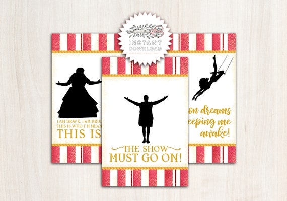 Greatest Showman Poster Backdrop - Greatest Show Party Supplies