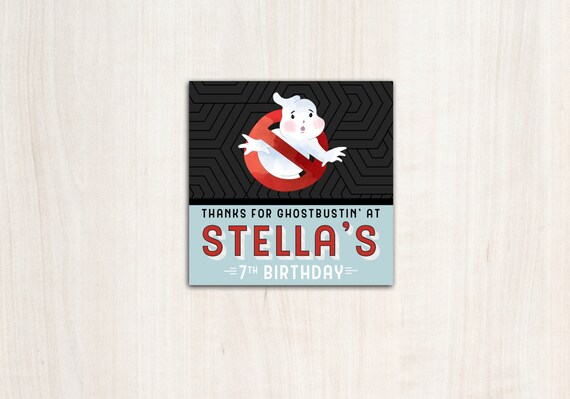Ghostbuster favor tags - Ghostbusters party favors and party supplies - digital file