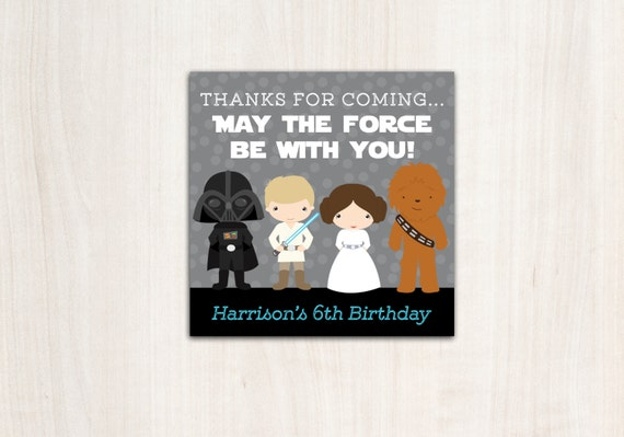 Star Wars Favor Tags - Thank You Tags - Star Wars - Party Supplies