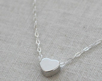 Silver heart pendant etsy silver heart necklace sterling silver chain heart charm sterling silver necklace birthday gift valentines jewelry silver heart pendant aloadofball Gallery