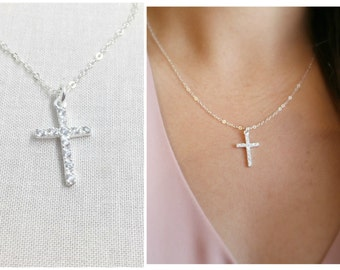 CZ Cross Necklace  5933fe451