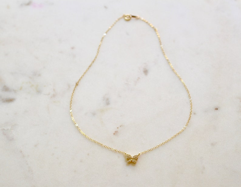 Dainty Butterfly Necklace Gift for Her Bridesmaid Necklace Butterfly Diamond Necklace Gold Butterfly Necklace Silver Butterfly Necklace