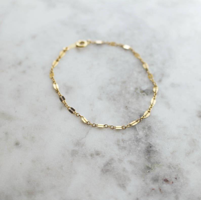 6353421a1 Gold Shimmer Bracelet Gold Filled Bracelet Dainty Gold | Etsy