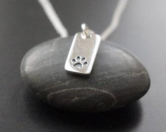 Halsband silver katt tass eller hund tass, Tass halsband sterling silver 925
