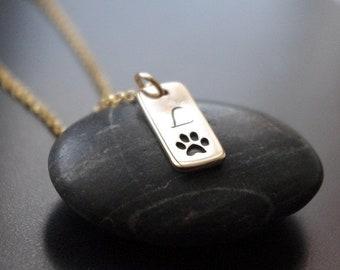 Guldhalsband katt tass eller hund tass, guldtass halsband brons