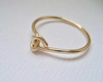 Hand i hand ring 14K Gold Filled, rund slät ring, förlovningsring, vänskapsring