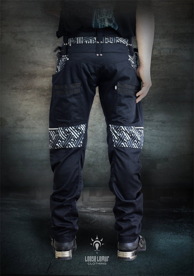 9589379a75c2 Legion Pants 3D Sayagata Silver and Grey Highlight Silver