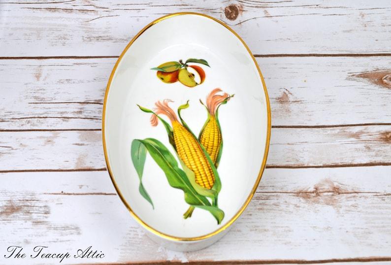 1989 Royal Worcester Evesham Fine Porcelain Oval Serving Dish ca Dish