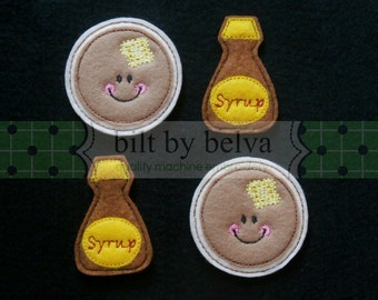 Pre-cut Felt Embellishments - Felty Feltie for Hair Bows, Clips & More - Pancakes and Syrup