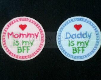 Custom Pre-cut Felt Embellishments - Felty Feltie for Hair Bows, Clips & More - Mommy Daddy BFF