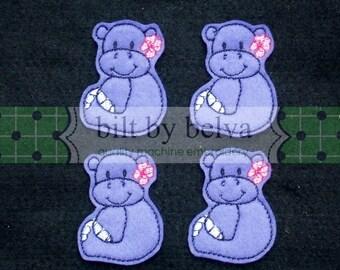 Pre-cut Felt Embellishments - Felty Feltie  for Hair Bows, Clips & More - Flower Hippo
