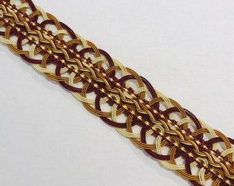 Retails 55.00 yd Scalamandre Pink /& Pearl PETIT PALAIS French Passementerie Silk Braid Gimp Trim Below Wholesale V74 3.4 yds