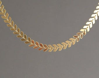 Gold ARROW Choker Necklace also in Sterling Silver