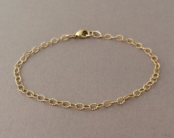 Twisted 14k Gold Fill  Chain Bracelet