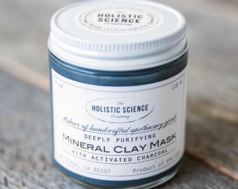 Mineral Clay Mask with Activated Charcoal 4oz