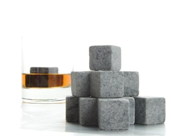 Rock Dad's World this Father's Day - Set of Nine Polar Whiskey Stones  -Made in Canada- fathers day gift - gift for dad - whisky rocks
