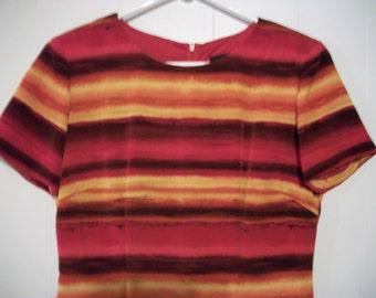 Vintage striped dress, size 6P