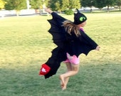 FULL Toothless Dragon Costume Cape and Hat How to Train Your Dragon Baby Toddler Child Adult Free US Shipping