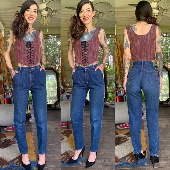 Vintage 1970's Chic H.I.S. Jeans High Waisted Wide