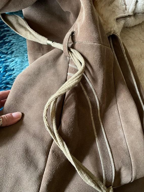 Vintage 1970's Suede Shearling Penny Lane Coat Ja… - image 9