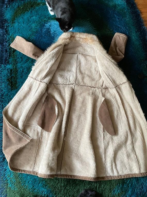 Vintage 1970's Suede Shearling Penny Lane Coat Ja… - image 7