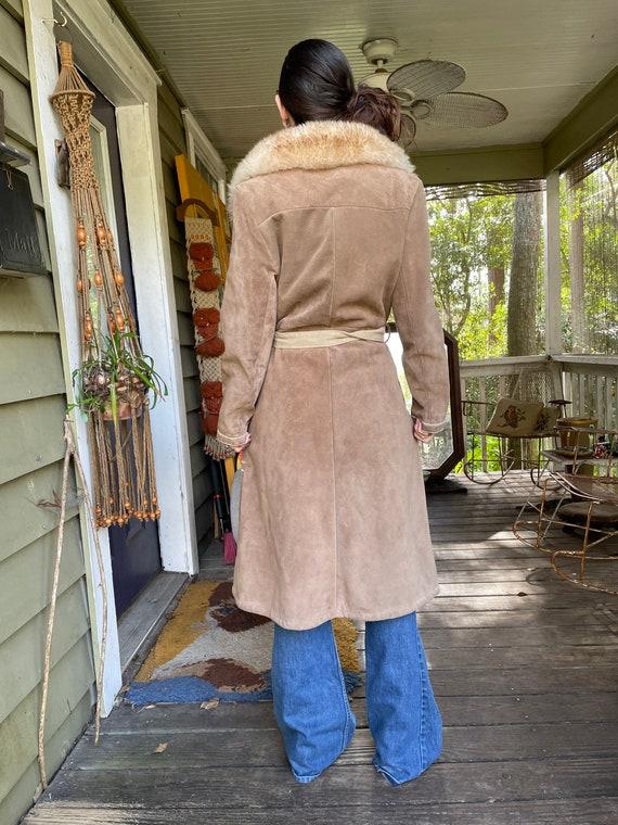 Vintage 1970's Suede Shearling Penny Lane Coat Ja… - image 5