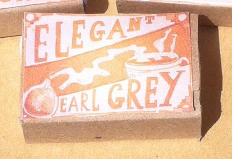 Steampunk wedding favours Elegant Earl Grey Emergency Tea