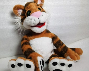Rugby Tiger from The Christmas toy story TV show, 80s, Jim Henson