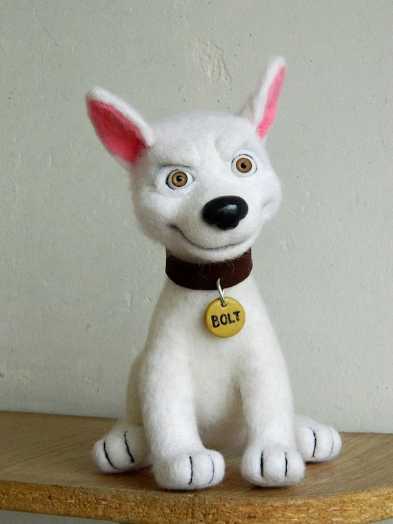 Bolt Dog Felted Toy Lightning Bolt Bolt Toy Bolt Disney Etsy