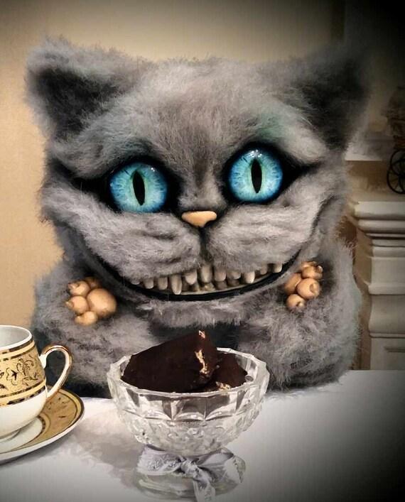 Cheshire Cat Alice In Wonderland Tim Burton Cheshire Plush Etsy
