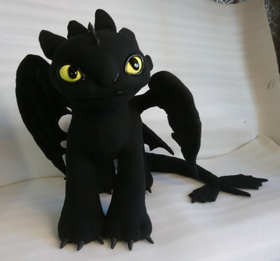 Toothless Night Fury Dragon Plush Toothless Plush How To Etsy