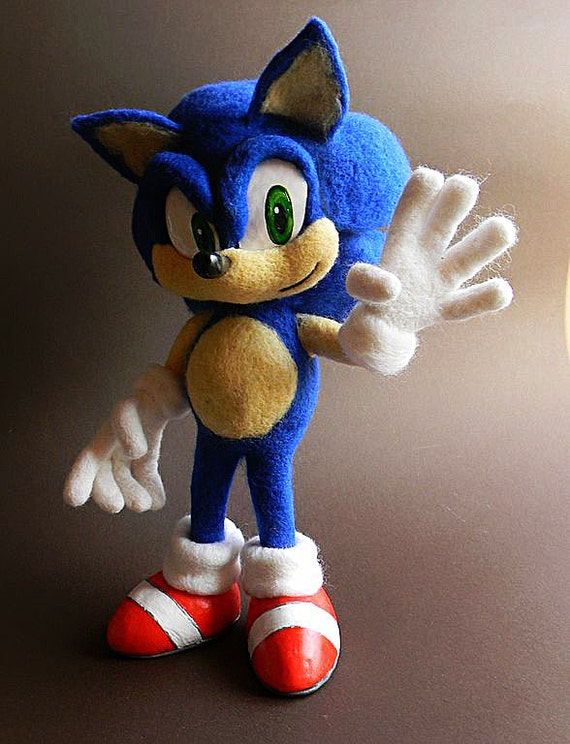 Sonic The Hedgehog Sonic Plush Sonic Plushies Sonic Etsy